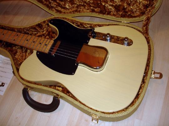 2002 vanzandt tlv 53 1953 blond ash telecaster replica. Black Bedroom Furniture Sets. Home Design Ideas